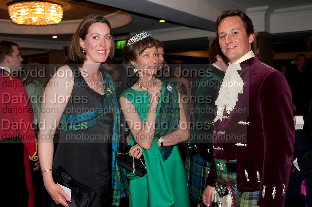 THE DUCHESS OF ARGYLL; IONA DUCHESS OF ARGYLL; THE DUKE OF ARGYL, The Royal Caledonian Ball 2011. In aid of the Royal Caledonian Ball Trust. Grosvenor House. London. W1. 13 May 2011.<br /> <br />  , -DO NOT ARCHIVE-© Copyright Photograph by Dafydd Jones. 248 Clapham Rd. London SW9 0PZ. Tel 0207 820 0771. www.dafjones.com.