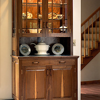 walnut and glass<br />