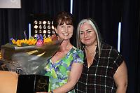 Julie Whelan and Emma Banks pose during O2 Silver Clef Awards 2019, Grosvenor House, London, UK, Friday 05 July 2019<br /> Photo JM Enternational