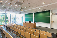 Photo of empty classroom in school