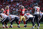 San Francisco 49ers defensive end Ronald Blair (98) directs his line against the Houston Texans at Levi's Stadium in Santa Clara, Calif., on August 14, 2016. (Stan Olszewski/Special to S.F. Examiner)