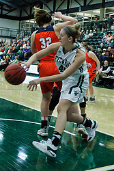 BLOOMINGTON, IL - December 15: Ashley Schneider during a college women's basketball game between the IWU Titans  and the Carroll Pioneers on December 15 2018 at Shirk Center in Bloomington, IL. (Photo by Alan Look)