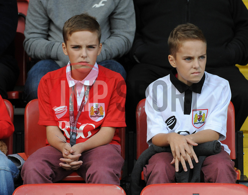 Bristol City fans - Photo mandatory by-line: Dougie Allward/JMP - Mobile: 07966 386802 23/08/2014 - SPORT - FOOTBALL - Manchester - Spotland Stadium - Rochdale AFC v Bristol City - Sky Bet League One