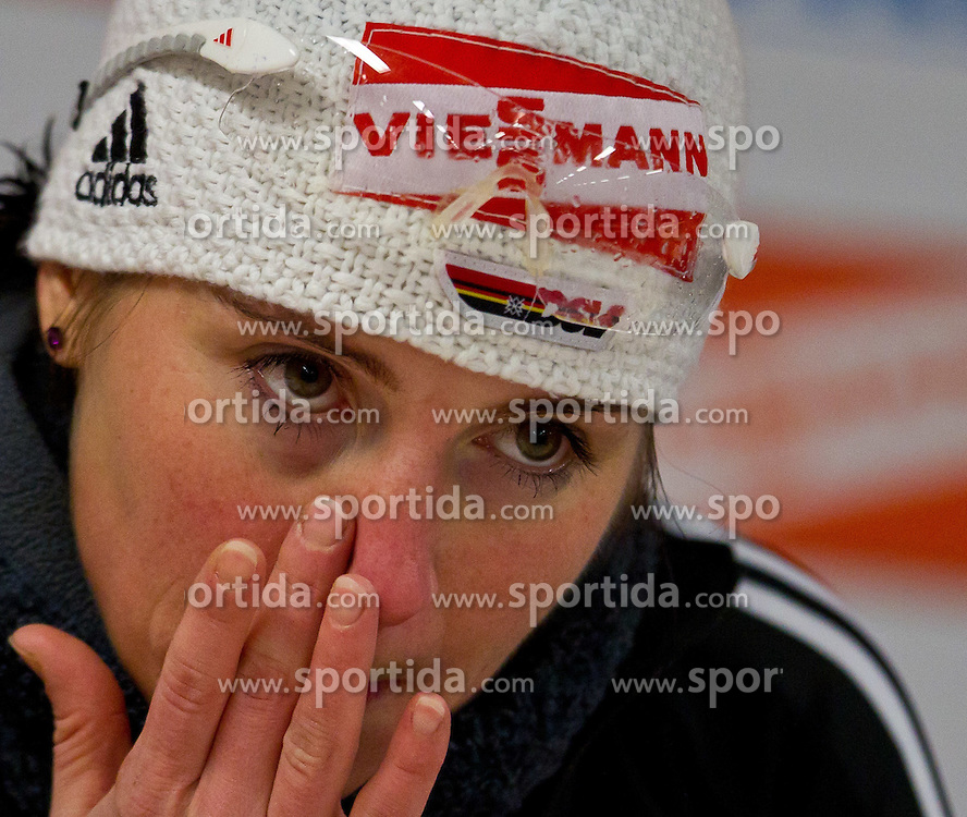 13.01.2011, Chiemgau Arena, GER, IBU Biathlon Worldcup, Ruhpolding, Individual Women, im Bild Andrea Henkel (GER) // Andrea Henkel (GER)  during IBU Biathlon World Cup in Ruhpolding, Germany, EXPA Pictures © 2011, PhotoCredit: EXPA/ J. Feichter