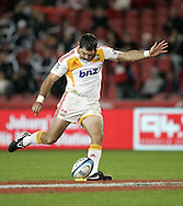 JOHANNESBURG, SOUTH AFRICA - 23 April 2011: Mike Delany of the Chiefs during the Super Rugby Match between the MTN Lions and the Chiefs held at Coca Cola Park Stadium, Johannesburg, South Africa. Photo by Dominic Barnardt