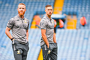 Leeds United midfielder Adam Forshaw (4) and Leeds United defender Barry Douglas (3) arrives at the ground during the EFL Cup match between Leeds United and Stoke City at Elland Road, Leeds, England on 27 August 2019.