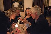 PRINCE STEFAN RATIBOR; PRINCESS STEFAN RATIBOR; LORD OGILVY, Nicky Haslam hosts dinner at  Gigi's for Leslie Caron. 22 Woodstock St. London. W1C 2AR. 25 March 2015