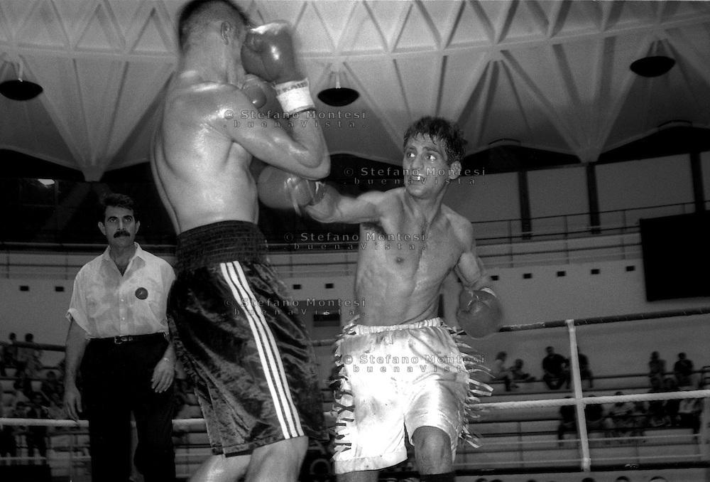 Roma  13 Giugno 1997.Palazzetto dello Sport. Fabio Lo Sacco  vs  Slobodan Vlaovic..Fabio Lo Sacco ( 1974-1998)