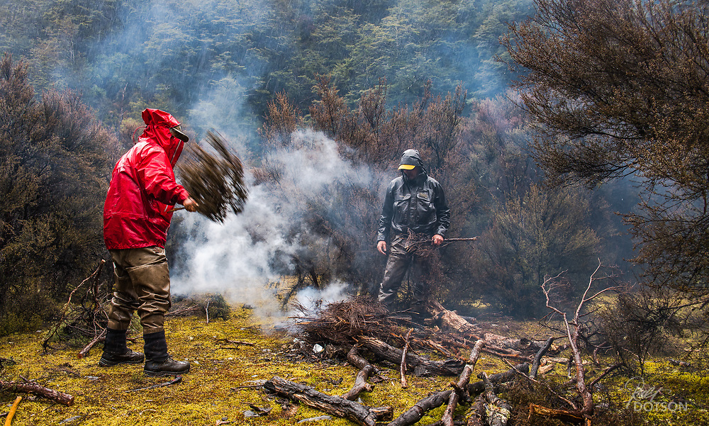 Give the fire some oxygen to get it cranked up in the wet everything situation on the campout.
