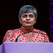 London, UK. 10th May 2017. Professions awards to Vanditi Pant at The Asian Women of Achievement Awards 2017 at the London Hilton on Park Lane Hotel. Photo by See li
