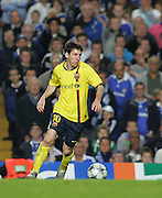 Lionel Messi of Barcelona in action during the UEFA Champions League Semi Final Second Leg match between Chelsea and Barcelona at Stamford Bridge on May 6, 2009 in London, England.