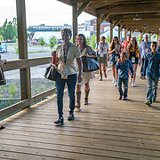 Cardinal Health RBC 2019 Customer Appreciation Night Music Festival at the Grand Ole Opry.  Singer/songwriter Rachel McCamy on the boardwalk. Photo by Alabastro Photography.