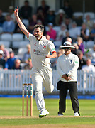 Graham Onions of Lancashire unsuccessfully appeals of an LBW during the Specsavers County Champ Div 1 match between Somerset County Cricket Club and Lancashire County Cricket Club at the Cooper Associates County Ground, Taunton, United Kingdom on 5 September 2018.