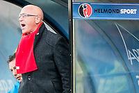 HELMOND - Helmond Sport - Achilles 29 , Lavans stadion , Voetbal , Jupiler League , 01-05-2015 ,  Helmond sport trainer Coach Jan van Dijk  maakt zich boos