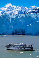 small touring boat at Margerie Glacier, Glacier Bay Nataional Park
