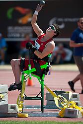 MITCHELL Cassie, USA, Shot Put, F52/53, 2013 IPC Athletics World Championships, Lyon, France