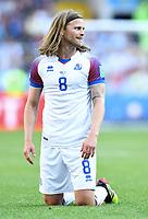 Birkir Bjarnason (Island)<br /> Moskau, 16.06.2018, FIFA Fussball WM 2018 in Russland, Vorrunde, Argentinien - Island 1:1<br /> Argentina - Iceland