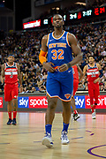 New York Knicks Noah Vonieh (32) during the NBA London Game match between Washington Wizards and New York Knicks at the O2 Arena, London, United Kingdom on 17 January 2019.