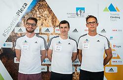 Coaches of Slovenian National Climbing team: Domen Svab, Gorazd Hren and Luka Fonda before new season, on June 30, 2020 in Koper / Capodistria, Slovenia. Photo by Vid Ponikvar / Sportida