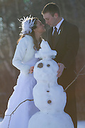 John & Brit's Beautiful Winter Wedding in Lutsen Minnesota