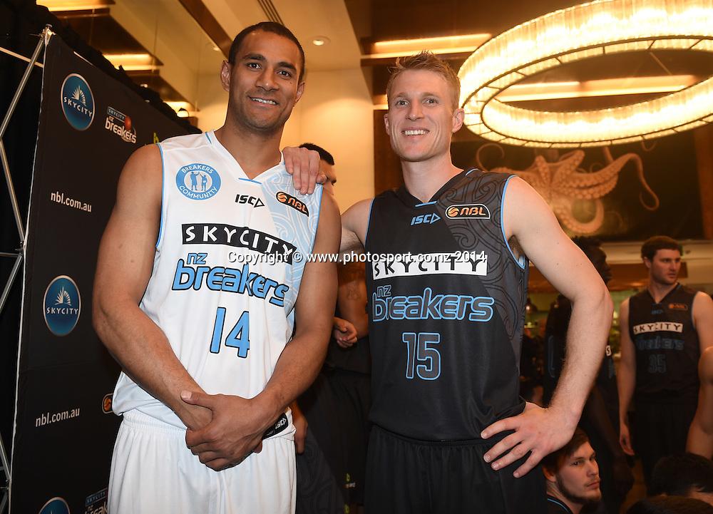 SkyCity Breakers Season Launch ahead of the 2014/15 ANBL Basketball Season. Auckland, New Zealand. Tuesday 7 March 2014. Photo: Andrew Cornaga / www.photosport.co.nz