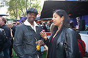 ADRIAN LESTER AND HIS WIFE, Udderbelly launch party. South Bank. London. 13 May 2010. -DO NOT ARCHIVE-© Copyright Photograph by Dafydd Jones. 248 Clapham Rd. London SW9 0PZ. Tel 0207 820 0771. www.dafjones.com.