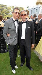 Left to right, JEFFERSON HACK and PATRICK COX at the Raisa Gorbachev Foundation Party held at Stud House, Hampton Court Palace on 5th June 2010.  The night is in aid of the Raisa Gorbachev Foundation, an international fund fighting child cancer.