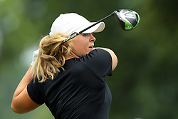 July 14, 2018 - Sylvania, Ohio, United States - Caroline Hedwall of Sweden tees off on the third tee during the third round of the Marathon LPGA Classic golf tournament at Highland Meadows Golf Club in Sylvania, Ohio USA, on Saturday, July 14, 2018. (Credit Image: © Jorge Lemus/NurPhoto via ZUMA Press)