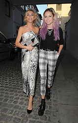 Model Abbey Clancy and singer Nina Nesbitt attend LFW: Giles - s/s 2014 catwalk show at Stationers Hall in London, UK. 16/09/2013<br />