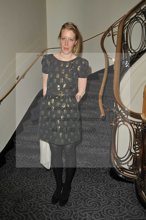 ALICE ROTHSCHILD at Quintessentially's 10th birthday party held at The Savoy Hotel, London on 13th December 2010.
