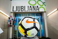 Football ball during friendly football match between National teams of Slovenia and Belarus, on March 27, 2018 in SRC Stozice, Ljubljana, Slovenia. Photo by Vid Ponikvar / Sportida
