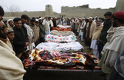 Prayers during a funeral for children who were killed in a bomb blast in Nangarhar Province, Afghanistan, December 17, 2012, Photo by Imago / i-Images...UK ONLY