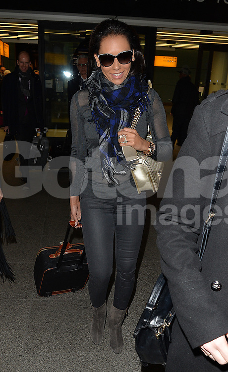 Melanie Brown aka Mel B arriving at Heathrow airport in London, UK. 21/01/2015<br />BYLINE MUST READ : GOTCHAIMAGES.COM<br /><br />Copyright by &copy; Gotcha Images Ltd. All rights reserved.<br />Usage of this image is conditional upon the acceptance <br />of Gotcha Images Ltd, terms and conditions available at<br />www.gotchaimages.com