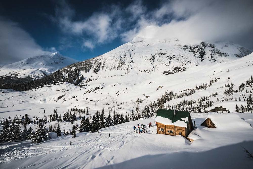 The Burnie Glacier Chalet nestled in the Howson Range, British Columbia
