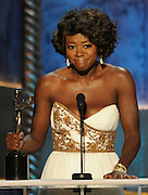 Viola Davis won Female Actor in a Leading Role. The 18th Annual Screen Actors Guild Awards were held at the Shrine Exposition Center in Los Angeles, CA 1/29/2012(John McCoy/Staff Photographer)