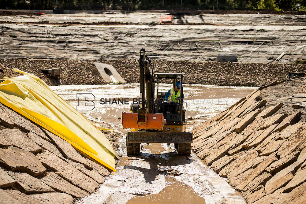 9/30/16 11:14:01 AM -- Lodge construction update. Mist Mountain Foundations, Peggy's Pond Rock install. <br /> <br /> Photo by Shane Bevel
