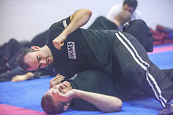 Tal Kvores, KMG GIT (Expert 4), takes today's IKMS G Level Programme class at the Scottish Martial Arts Centre, Tullibody.<br /> &copy;Michael Schofield.