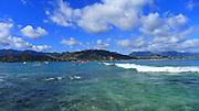 Surfing, Mokulua Island, Lanikai, Oahu, Hawaii