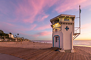 The Boardwalk at Laguna Beach Lifeguard Tower During Sunset