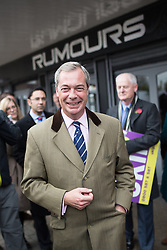 © Licensed to London News Pictures . 03/11/2015 . Oldham , UK . UKIP leader NIGEL FARAGE at the launch of the party's campaign for the seat of Oldham West and Royton , out and about in Royton Shopping Centre . The by-election has been triggered by the death of MP Michael Meacher . Photo credit : Joel Goodman/LNP