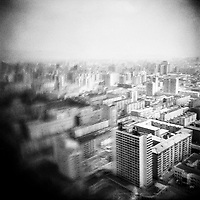 A cityscape of Pyongyang, North Korea.