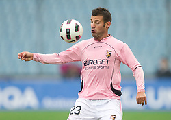 Antonio Nocerino of Palermo during football match between Udinese Calcio and Palermo in 8th Round of Italian Seria A league, on October 24, 2010 at Stadium Friuli, Udine, Italy.  Udinese defeated Palermo 2 - 1. (Photo By Vid Ponikvar / Sportida.com)