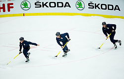 Ice Cleaners working during Ice Hockey match between USA and Finland at Day 1 in Group B of 2015 IIHF World Championship, on May 1, 2015 in CEZ Arena, Ostrava, Czech Republic. Photo by Vid Ponikvar / Sportida