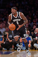20 November 2012: Forward (0) Andray Blatche of the Brooklyn Nets in game action against the Los Angeles Lakers during the first half of the Lakers 95-90 victory over the Nets at the STAPLES Center in Los Angeles, CA.