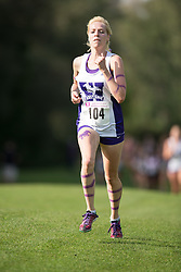Michelle Moakler of the Western Mustangs  competes in the women's 5k  at the 2015 Western International Cross country meet in London Ontario, Saturday,  September 26, 2015.<br /> Mundo Sport Images/ Geoff Robins