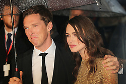 © Licensed to London News Pictures. 08/10/2014, UK. Benedict Cumberbatch; Keira Knightley, The Imitation Game - BFI London Film Festival Opening Night Gala, Leicester Square, London UK, 08 October 2014. Photo credit : Richard Goldschmidt/Piqtured/LNP
