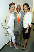 May 7, 2012- New York, NY United States: - (L-R) Actress Nicole Ari Parker, Stephane Lawson-Muhammad and Dr. Khalil Gibran Muhammad, Director, The Schomburg Center attend the post reception of Theater Talks at the Schomburg: A Streetcar Named Desire held at the Schomburg Center for Research in Black Culture, part of the New York Public Library on May 7, 2012 in Harlem Village, New York City. The Schomburg Center for Research in Black Culture, a research unit of The New York Public Library, is generally recognized as one of the leading institutions of its kind in the world. For over 80 years the Center has collected, preserved, and provided access to materials documenting black life, and promoted the study and interpretation of the history and culture of peoples of African descent.  (Photo by Terrence Jennings) .