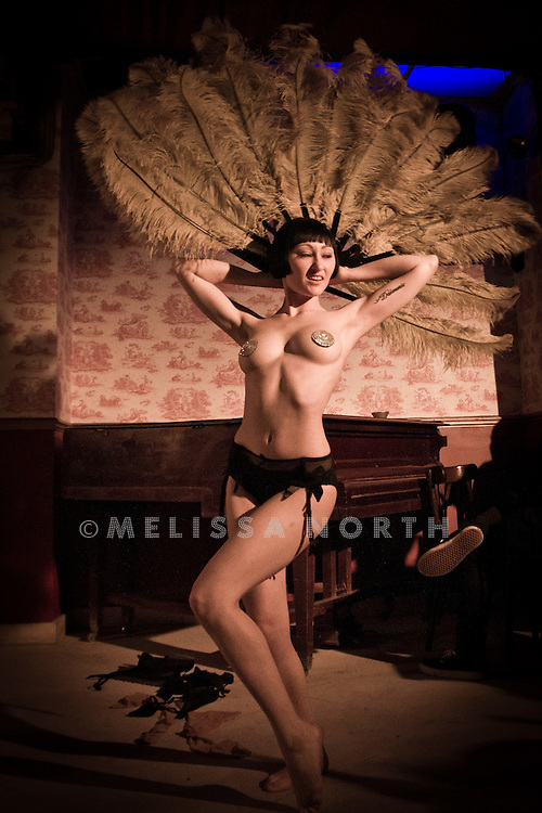 Performers and atmosphere at The Tassel Club's New Faces night at The Dollhouse, London on 6 October 2011.