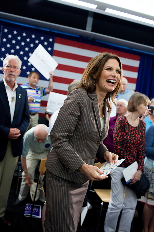 Republican presidential hopeful Michele Bachmann campaigns on Saturday, July 23, 2011 in Marshalltown, IA.