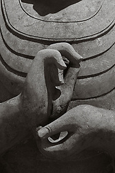 detail of a magnificent statue